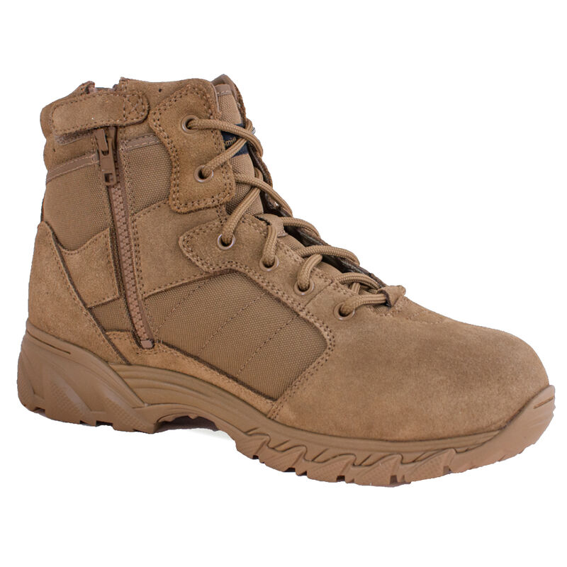 """Smith & Wesson Breach 2.0 Men's 6"""" Side Zip Boot Size 7.5 Coyote"""