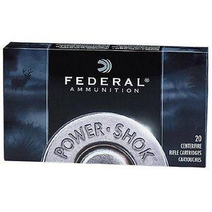 Federal Power-Shok .270 Winchester Ammunition 20 Rounds JSP 130 Grains 270A