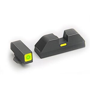 AmeriGlo CAP Night Sights S&W M&P Green with Lime Outline and Bar SW-614