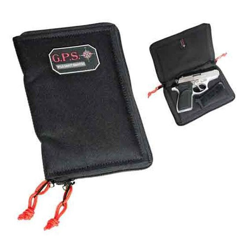 G Outdoors G.P.S. Pistol Sleeve Medium Lockable Zipper Black GPS-865PS