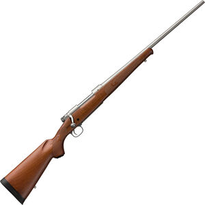 "Winchester Model 70 Featherweight Stainless .264 Win Mag Bolt Action Rifle 24"" Barrel 3 Rounds Adjustable Trigger Maple Stock Stainless Steel Finish"