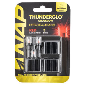 New Archery Products Thunderglo Lighted Nock Red 3 Pack for Crossbows