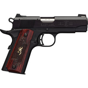 "Browning 1911-22 A1 Black Label Medallion Compact Semi Auto Rimfire Pistol .22 LR 3.625"" Barrel 10 Rounds Rosewood Grips Black"