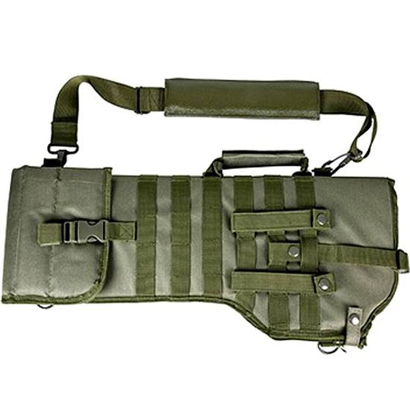 NcSTAR Tactical Rifle Scabbard MOLLE Compatible Shoulder Carry or can be mounted on other MOLLE Gear Nylon Green