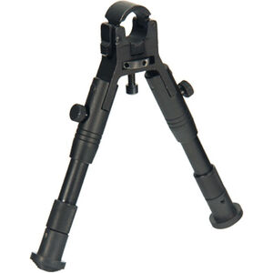 "Leapers UTG New Gen Reinforced Clamp-On Bipod 6.2"" to 6.7"" Matte Finish Black"