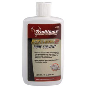 Traditions EZ Clean 2 Bore Solvent Two-in-One Cleaning Solution and Protectant 8 Fluid Ounce Bottle A1938