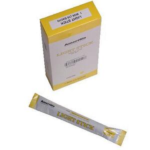 """6"""" Light Sticks 12-hrs. Yellow 10-Pack"""