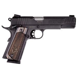 "Taurus Full Size 1911 .45 ACP Semi Auto Pistol 5"" Barrel 8 Rounds Novak Sights Walnut Wood Grips Matte Black Finish"