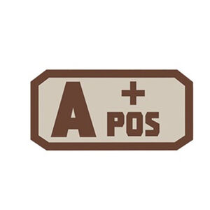 Voodoo Tactical Blood Type Patch A + POS TPR Rubber Coyote