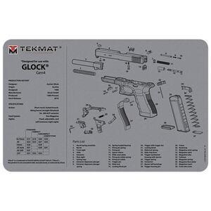 """TekMat GLOCK Gen 4 Armorer's Bench Mat 11""""x17"""" Gray"""