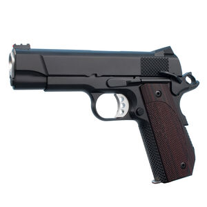 "Ed Brown Kobra Carry Lightweight 1911 Semi Auto Pistol 9mm Luger 4.25"" Barrel 8 Rounds Fiber Optic Front/Fixed Rear Sights Slim Laminate Wood Grips Matte Black Finish"