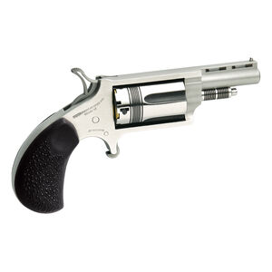 "North American Arms Mini Revolver 22 Mag 1.625"" Barrel 5 Rounds Rubber Grip Stainless Steel"