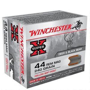 Winchester Super X .44 Magnum Ammunition 200 Rounds, HSP, 240 Grain