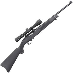 "Ruger 10/22 Semi Auto Rifle With Viridian EON 3-9x40 Scope .22 LR 18.5"" Barrel 10 Rounds Black Synthetic Stock Hard Case Satin Black Finish"
