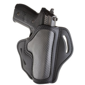 1791 Gunleather Project Stealth CF-BH2.3 Multi-Fit OWB Belt Holster for Full Size Semi Auto Models Right Hand Draw Carbon Fiber/Leather Black