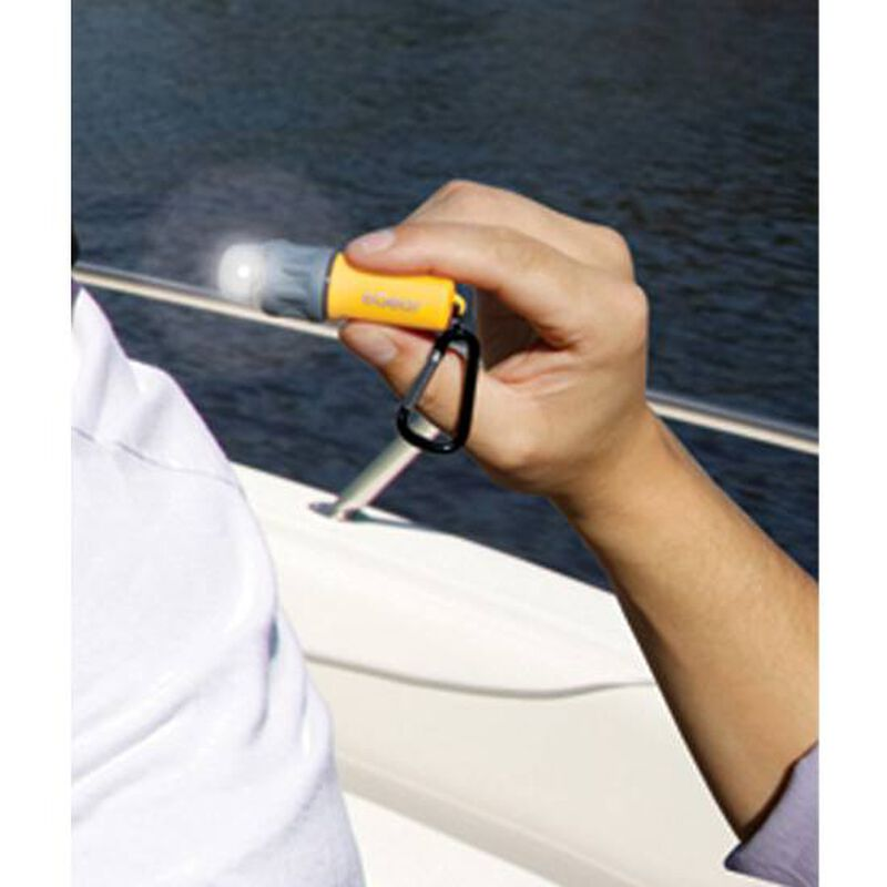 Ultimate Survival Technologies SplashFlash LED Flashlight 25 Lumens 1x AAA Battery Carabineer Clip ABS Plastic Body Black 20-17001-01