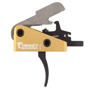 "Timney Trigger for AR-15 Rifles Small Pin .154"" Diameter 4 LB Single Stage Solid Trigger Shoe Complete Drop In .22LR Conversion/Mil-Spec Ammo Aluminum Yellow 668S"