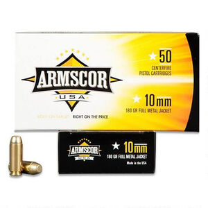 Armscor USA 10mm Auto Ammunition 1,000 Rounds, FMJ, 180 Grains