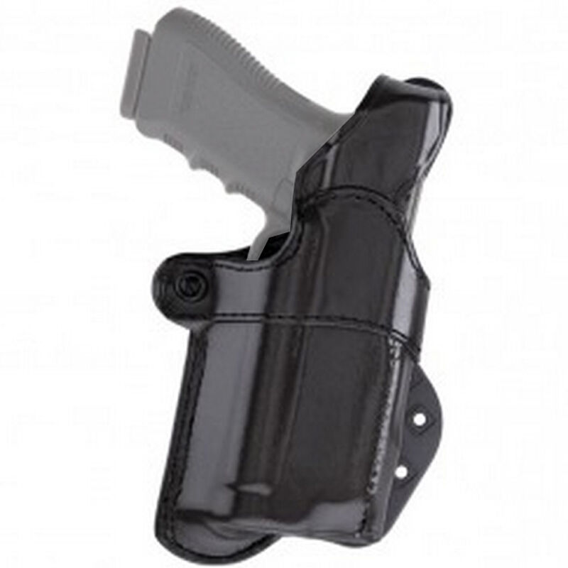 Aker Leather Nightguard GLOCK 17/22 with M3/ TLR-1/TLR-2 Paddle Holster Right Hand Leather Black