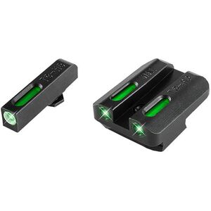 TRUGLO TFX Brite-Site Walther PPQ Front and Rear Set TFO Green Night Sights Steel Black TG13WA1A