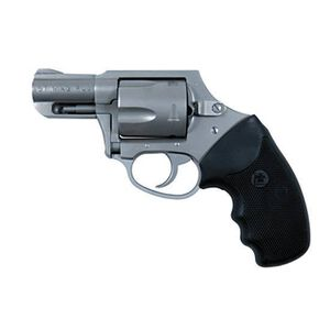 "Charter Arms Mag Pug Double-Action Revolver .357 Magnum 2.2"" Barrel 5 Rounds Concealed Hammer Black Rubber Grips Stainless Steel Finish"