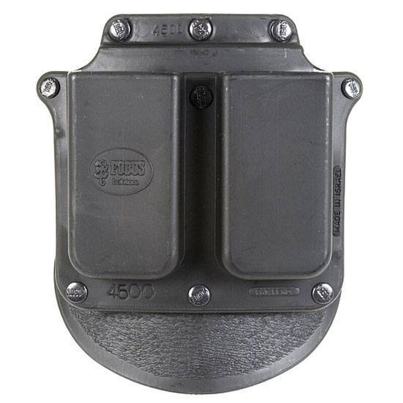 Fobus Double Magazine Pouch 1911 .45 ACP Single Stack Magazines Paddle Attachment Ambidextrous Polymer Black