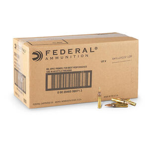 Federal American Eagle 5.56 NATO Rifle Ammunition 1000 Rounds 55 Grain FMJBT 3,240 Feet Per Second