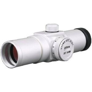 Ultradot 30 Red Dot Sight 4 MOA Dot 1 MOA 30mm Tube Silver with Rings ULDT-0304S