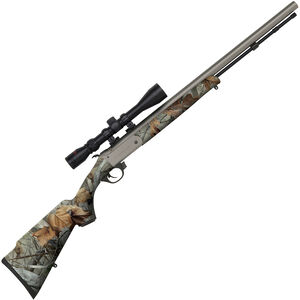 "Traditions Buckstalker Break Action Black Powder Rifle .50 Caliber 24"" Barrel G2 Vista Camo Synthetic Stock CeraKote Finish R5-72103547"