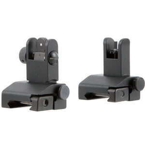 Tacfire AR-15 Pop-Up Iron Sights/Spring-Loaded Aluminum Anodized Black Finish