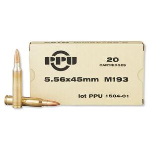 Prvi Partizan 5.56 NATO Ammunition 20 Rounds FMJBT 55 Grains PP5.21