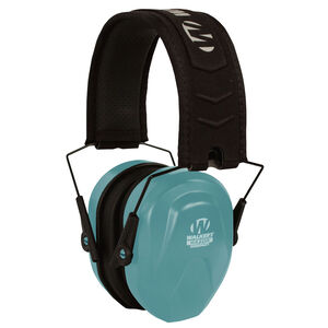 Walkers Razor Slim Passive Earmuffs Compact Hearing Protection Women/Youth Size Blue