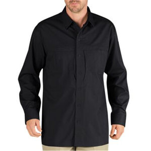 Dickies Men's Tactical Long Sleeve Shirt Cotton/Polyester Large Regular Black LL950BK L