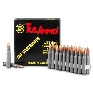 100 Rounds of TulAmmo .223 Remington Ammunition, 100 Rounds, Steel Case FMJ, 62 Grains