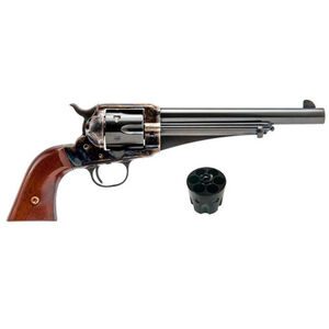 """Cimarron Firearms 1875 Outlaw Revolver .45 Colt/.45 ACP 2-Cylinder 7.5"""" Barrel 6 Rounds Walnut Grips Color Case Hardened and Blue Finish"""
