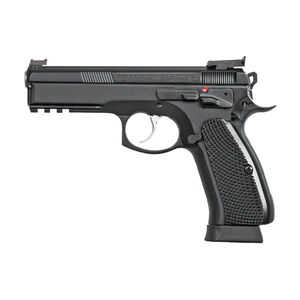 "CZ-USA CZ 75 SP-01 Shadow Target II 9mm Luger Semi Auto Pistol 4.6"" Barrel 18 Rounds Accessory Rail Steel Frame Matte Black Finish"