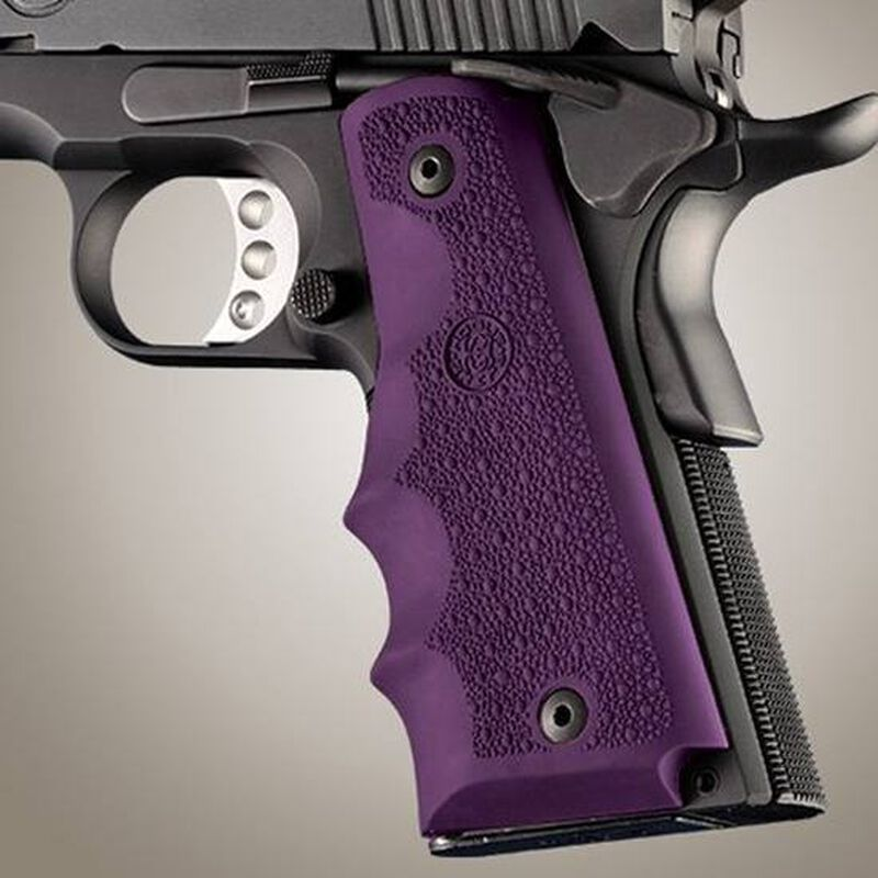 Hogue Grips 1911 Full Size With Finger Grooves Rubber Purple 45006