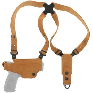 Galco Classic Lite GLOCK 43, 43X, 48 Springfield Hellcat Shoulder Holster System Right Hand Steerhide Natural