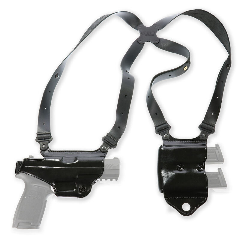 Galco Miami Classic II Shoulder Holster System Fits Beretta 92FS/M9 Right Hand Leather Black