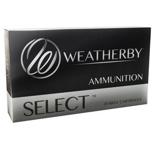 Weatherby Select .300 Wby Magnum Ammunition, 20 Rounds, SP, 180 Grains