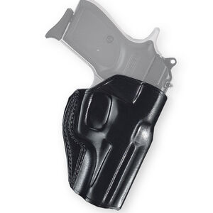 Galco Stinger Belt Slide Holster Fits S&W M&P Shield 2.0 with Integrated Laser Right Hand Leather Black