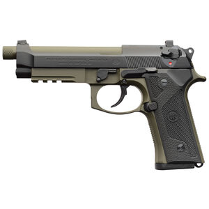"Beretta M9A3 Type G 9mm Semi Auto Pistol 5"" Threaded Barrel 17 Rounds Night Sights Green Frame and Barrel"
