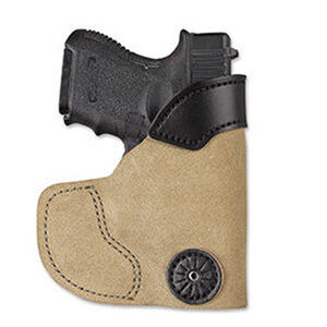 DeSantis Pocket-Tuk Pocket/Inside Waistband Holster For GLOCK 43 Right Hand Suede Leather Tan 111NA8BZ0