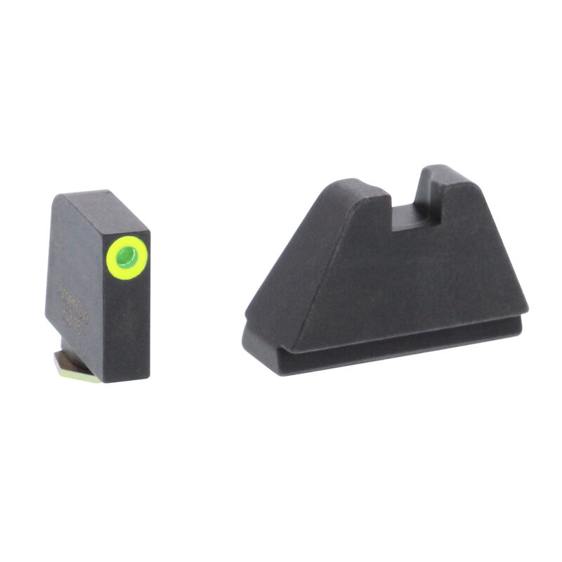 Ameriglo 5XL Tall Sight Set for GLOCK Green Tritium Front Dot with LumiGreen Outline and Flat Black Rear