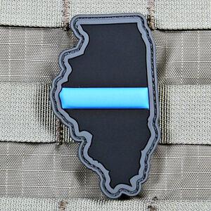 "Violent Little Machine Shop ""Thin Blue Line"" State of Illinois Morale Patch"