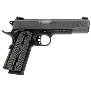 "Taurus 1911 Single Action Semi Automatic Pistol .45 ACP 5"" Barrel 8 Round Magazine Novak Style Sights Custom VZ Grip Cerakote Gray Slide Finish"
