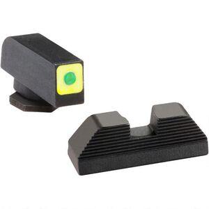 AmeriGlo Spaulding Sight Set For GLOCK, Green Tritium, Steel