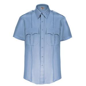 Elbeco Textrop2 Men's Short Sleeve Shirt Neck 18.5 100% Polyester Tropical Weave Blue