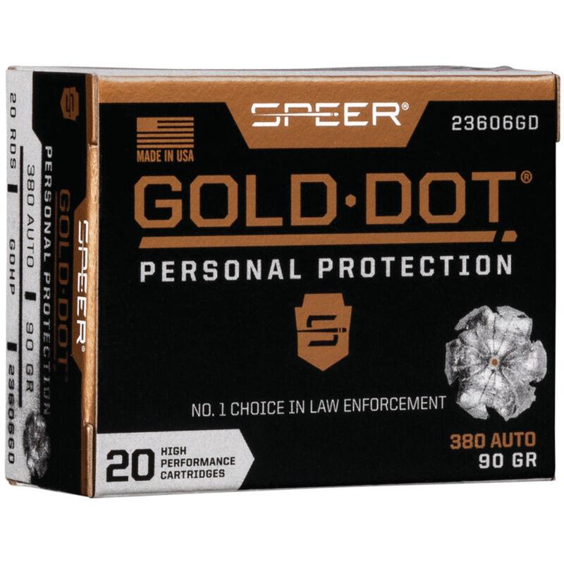 Speer .380 ACP Ammunition 500 Rounds Gold Dot HP 90 Grains