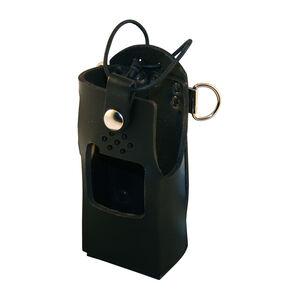 Boston Leather 5471 Radio Holder Kenwood TK-3180 D-Ring Leather Plain Black 5471RC-1